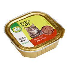 POUCE Barquette de pâtée au boeuf pour chat 100g
