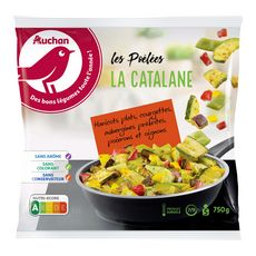 AUCHAN Poêlée catalane 5 portions 750g