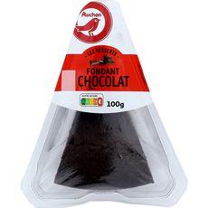 AUCHAN Les Desserts Gâteau fondant au chocolat 1 part 100g