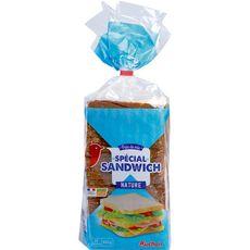 Auchan Pain de mie spécial sandwitch nature sans huile de palme 800g