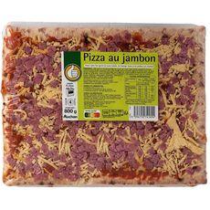 AUCHAN ESSENTIEL Pizza au jambon et fromage 800g