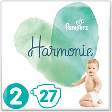 PAMPERS Harmonie couches taille 2 (4-8kg) 27 couches