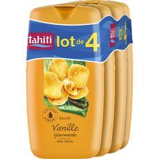 TAHITI Gel douche à la vanille 4x250ml
