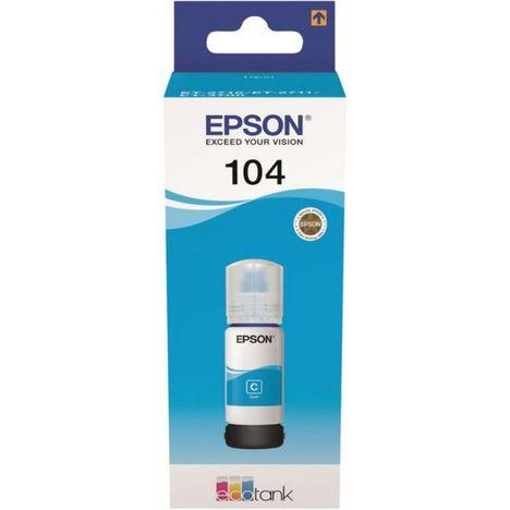 EPSON Cartouche d'encre bouteille Ecotank 104 Cyan
