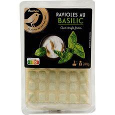 AUCHAN GOURMET Ravioles au basilic 2 portions 240g