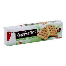 AUCHAN Auchan Gaufrettes fourrées praliné noisette 15 biscuits 110g 15 biscuits 110g