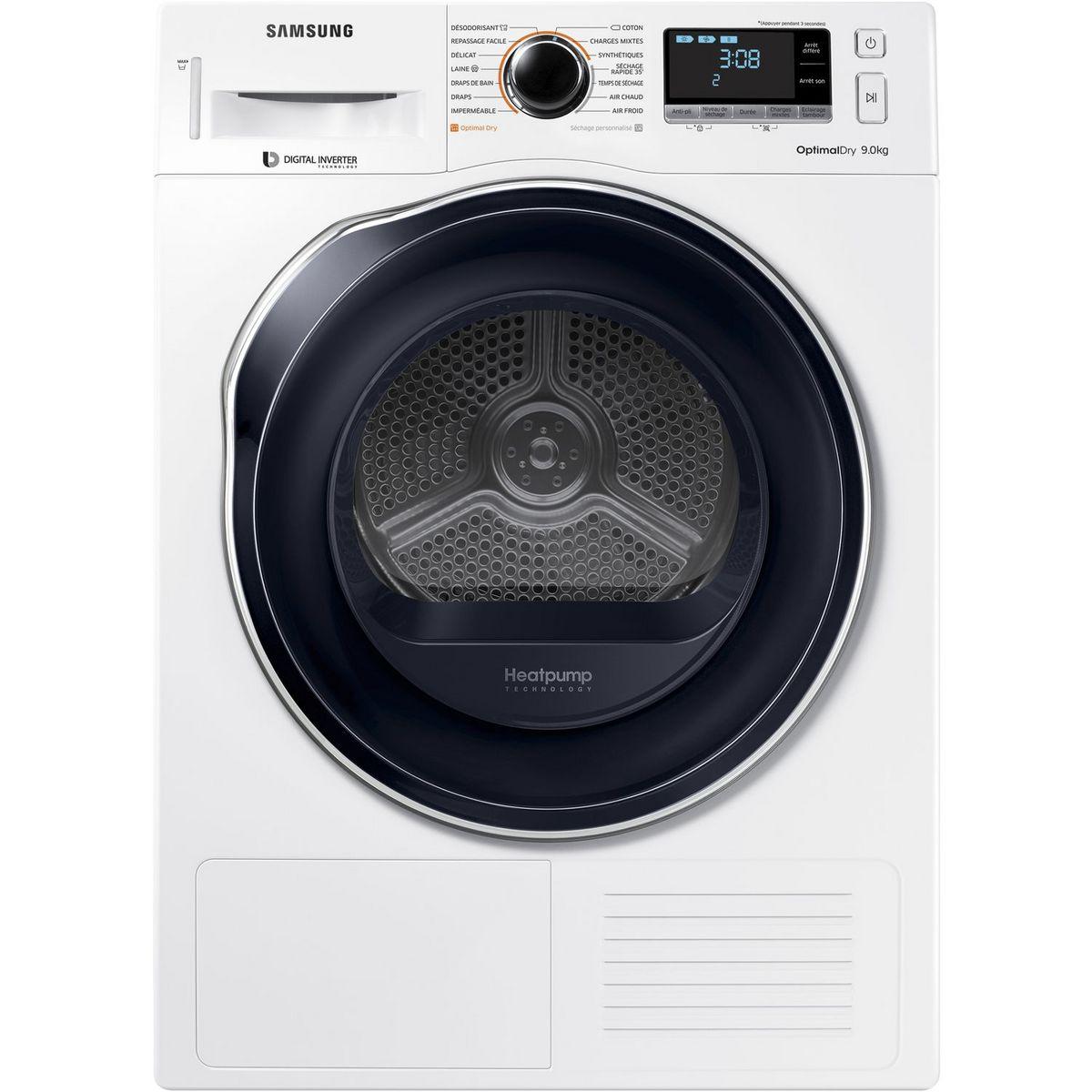 Sèche linge hublot DV90M6200CW, 9 kg, Condensation, Pompe à chaleur