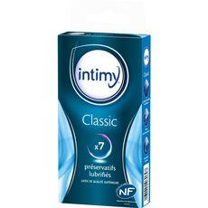 Intimy Préservatifs classiques lubrifiés x7