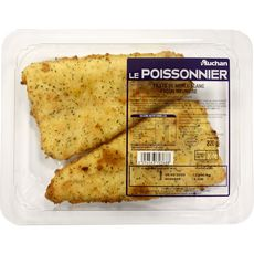 AUCHAN LE POISSONNIER Auchan Le Poissonnier Filet de merlu meunière x2 - 220g 2 pièces 220g