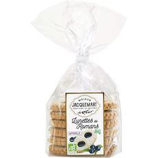 MAISON JACQUEMART Maison Jacquemart Lunettes de Romans biscuits à la myrtille bio x6-300g 6 biscuits 300g