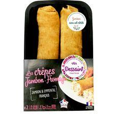 DESSAINT Crêpes jambon et fromage 2x140g
