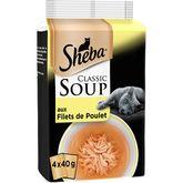 Sheba soupe aux filets de poulet sachet fraîcheur 4x40g