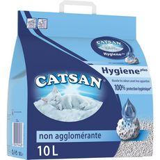 Catsan Litière minérale hygiène plus pour chat 10l