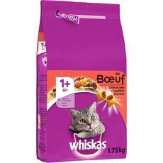 WHISKAS Whiskas croquette pour chat au boeuf 1an et plus 1,75kg