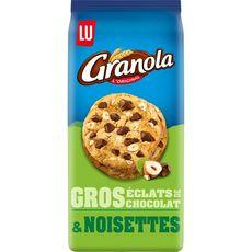 GRANOLA Cookies gros éclats de chocolat et noisettes 184g