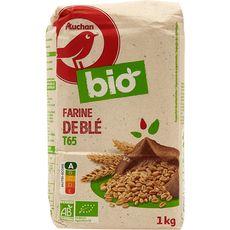 AUCHAN BIO Farine de blé T65 1kg