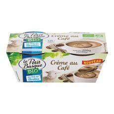 PETIT BASQUE Crème dessert au café et au lait de brebis bio 2x100g