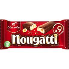 NOUGATTI Barres chocolatées au nougat 9 barres 270g