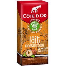 Côte D'Or cocoa life chocolat au lait noisettes 150g