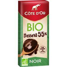 Maison du Café COTE D'OR Tablette de chocolat noir pâtissier bio 55%