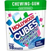 Hollywood Hollywood cubes menthe note fruitée 41g