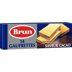 BRUN Gaufrettes saveur cacao 14 biscuits 146g
