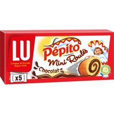 PEPITO Pépito Mini roulés au chocolat, sachets individuels 5 gâteaux 150g 5 gâteaux 150g
