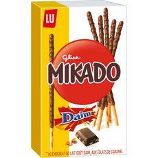 Mikado Biscuit chocolat au lait goût Daim et éclats de caramel 70g