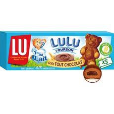 Lulu l'Ourson 5 Gâteaux tout chocolat ss colorant, sachets individuels 150g