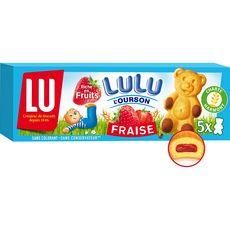 Lulu l'Ourson Gâteaux fourrés fraise, sachets individuels 5 gâteaux 150g