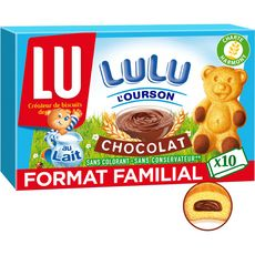 Lulu l'Ourson 10 Gâteaux fourrés au chocolat, sachets individuels 300g