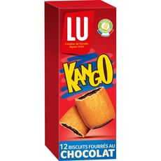 LU Kango biscuits fourrés au chocolat 12 biscuits 225g
