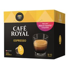 CAFE ROYAL Café espresso en dosette Dolce Gusto et Nespresso 16 capsules 96g