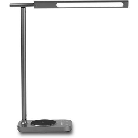 QILIVE Lampe de bureau avec base de chargement à induction Q.3988 Gris foncé