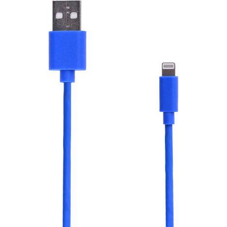 QILIVE Câble de charge USB vers Lightning - Mâle/mâle - 1 mètre - Caoutchouc Bleu foncé