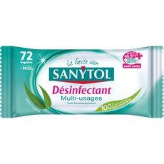 Sanytol Lingettes désinfectantes multi-usages eucalyptus x48