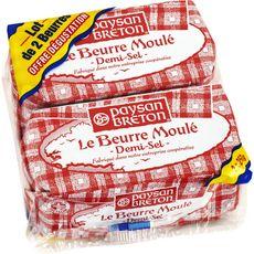 PAYSAN BRETON Paysan Breton Beurre moulé demi-sel 2x250g 2x250g