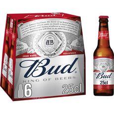 BUD Bière blonde 5% bouteilles 6x25cl