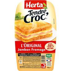 Herta Tendre croc' l'original au jambon et au fromage 200g