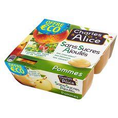 Charles & Alice CHARLES & ALICE Spécialité pomme sans sucres ajoutés