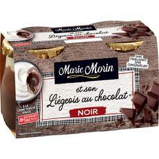 MARIE MORIN Liégeois au chocolat noir 2x130g