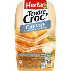 Herta Tendre croc' au chèvre et jambon 210g
