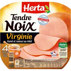 HERTA Tendre noix Le Virginie 4 tranches 140g