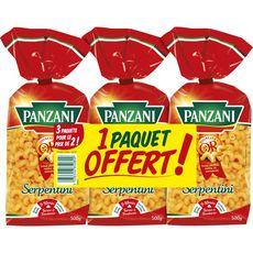 PANZANI Serpentini 2x500g +500g offert
