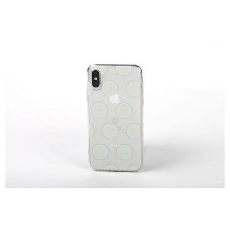QILIVE Coque Trendy pour Apple iPhone X/XS - Blanc à pois