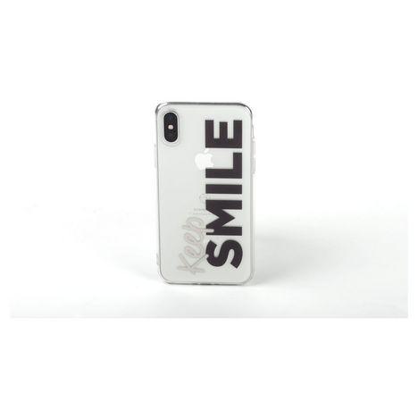 QILIVE Coque Trendy pour Apple iPhone XR - Blanc Smile