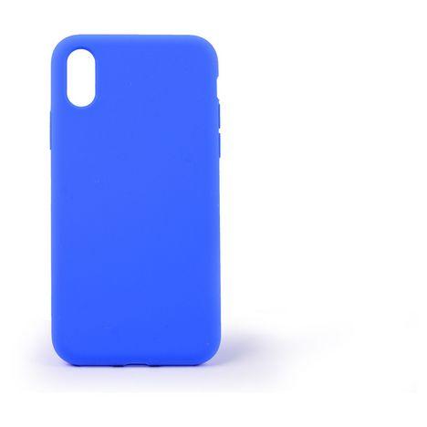 QILIVE Coque Silicone pour Apple iPhone X/XS - Bleu foncé