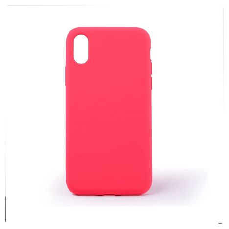 QILIVE Coque Silicone pour Apple iPhone X/XS - Rouge