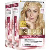 L'Oréal excellence crème 9.3 blond très clair doré x2