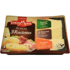 Entremont raclette coupe triangle 3 saveurs 600g